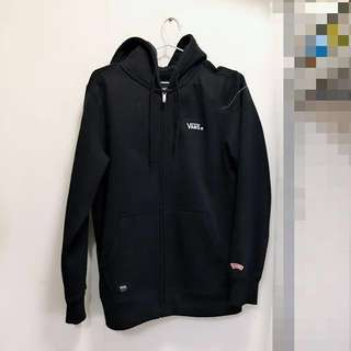 Vans 正品黑色外套全新 實價 男女 off the wall zip up hoodie small