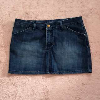 Denim Skirt (Freesize fits medium)