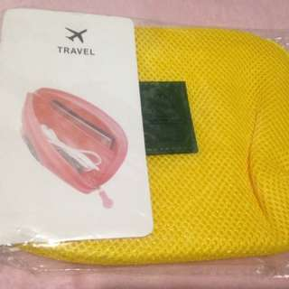 Yellow Travel Pouch
