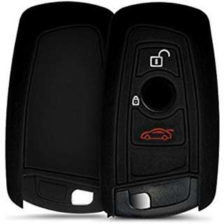 kwmobile Silicone cover for BMW 3-Button Remote Car Key (only Keyless Go) Protection cover Etui Key Case Cover in black