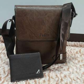 *Slempang For Man* Quality : Semi Premium Material : Leather Uk-23×4×25cm  GOOD QUALITY ALL👍 Ready 2 Colour  •Black •Coffee  *Harga 260rb*