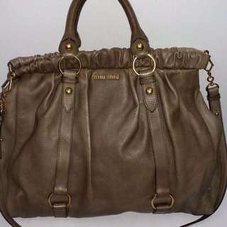 Miu miu leather 2way bag