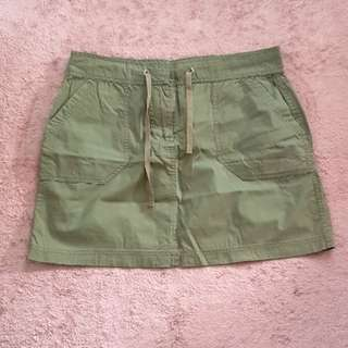 Denim Co Skirt (Green, Large)