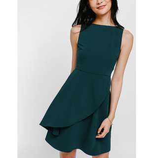 Forest Green Skater Dress