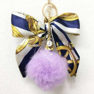 Twilly with Name Initial Bag Charm/Keychain