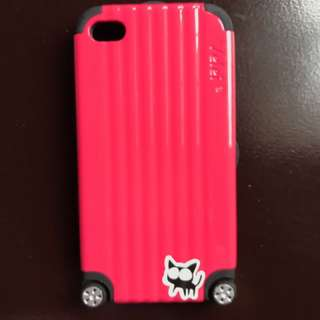 Casing Iphone 4s Pink Luggage