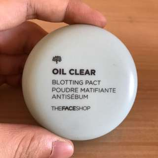 Oil clear blotting pact (the face shop)