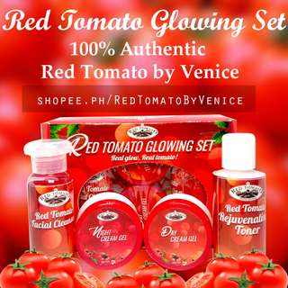 Red Tomato Glowing Rejuvenating Set w/ Night Day Cream Toner