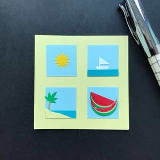 Handmade mini card 'Summer'