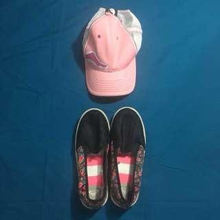 ROXY Shoes & Pink Cap