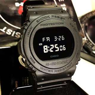 Authentic G-Shock DW-5750E Tactical Matte Stealth Blackout Series! Casio Sale Offer Brand New! Limited Stock First Come First Served 😎👍