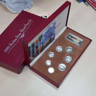1999 Singapore Silver Proof Coin Set