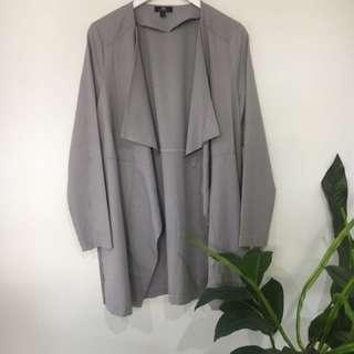 Dark beige close to grey thin jacket/coat style