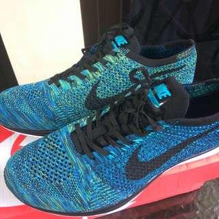 Nike flyknit racer blue yellow strike new premium
