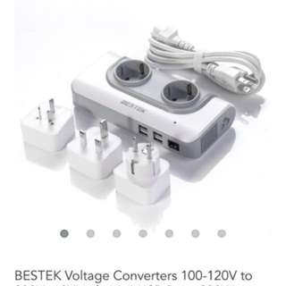 BNIB Bestek 200w travel power converter
