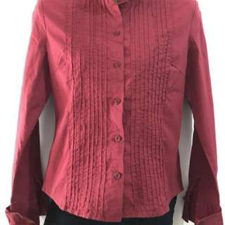 Red Long Sleeves Ladies Polo
