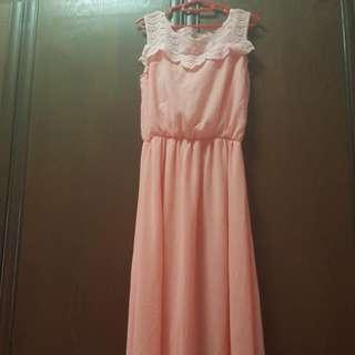 Long dress for bridesmaid