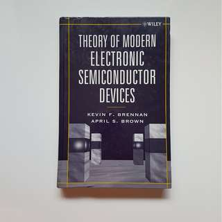 THEORY OF MODERN ELECTRONIC SEMICONDUCTOR DEVICES