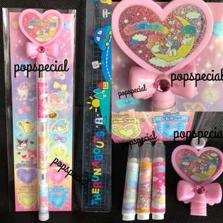 Last PCS Little Twin Stars 3 Colors Marker Highlighter Pen