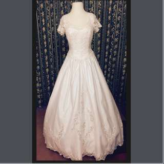 Semi ball gown Wedding dress
