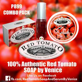 Red Tomato Combo Pack - Soap, Serum, Scrub by Venice