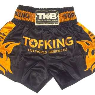 Top king gold edition world series muay thai shorts (Size L)