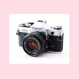 Canon AE-1 Vintage Film Camera w 50mm Lens