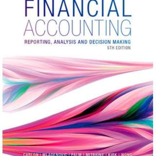 Financial Accounting: Reporting, Analysis and Decision-making
