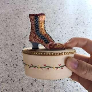 Vintage Boot Jewellery Box