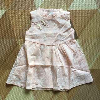 Baby Girl Cheongsam Dress in Peach