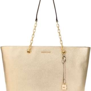 BRAND NEW Michael Kors Mercer Chain-link Leather Tote
