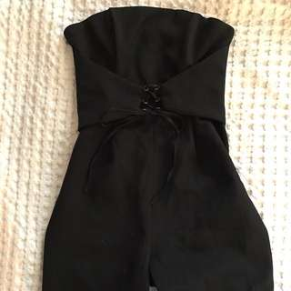 Black Bodysuit With Corset Size 8