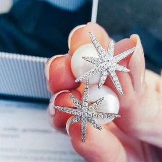 s925 純銀 apm 耳環 珍珠