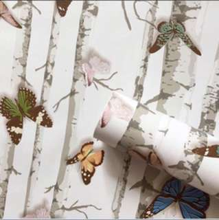Wall paper adhesive sticker