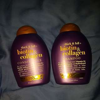 BN organix thick and full shampoo and conditioner set