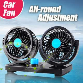 mitchell dual head car vehicle fan