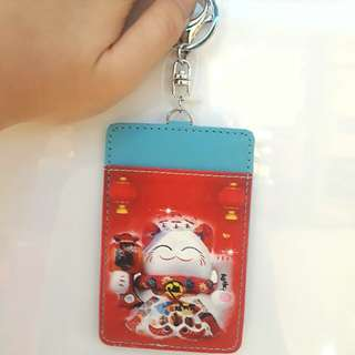 Fortune cat card holder