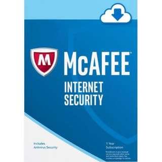 McAfee Internet Security for 3 years U.P. $59 | Antivirus Malware