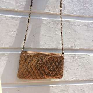 Gold Mango Cross Body Bag