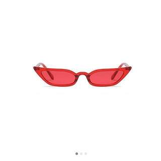 Vintage red tinted cat eye sunglasses