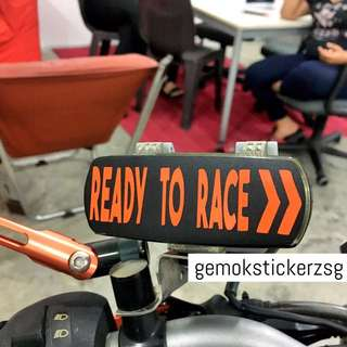 KTM READY TO RACE IU UNIT DECAL