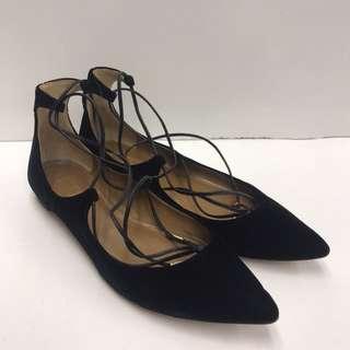 Aquazzura Firenze Velvet Flat Shoes
