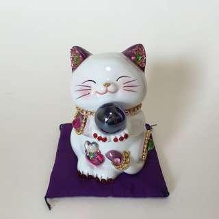 100% new新 – Japan Feng Shui Cat / Money Bank日本陶瓷風水貓 /錢甖