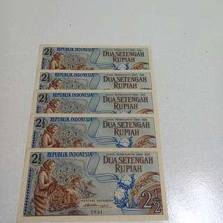 Uang NKRi 1961 +bonus Rp 50,-