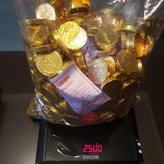 Chocolate gold coins 2.5kg