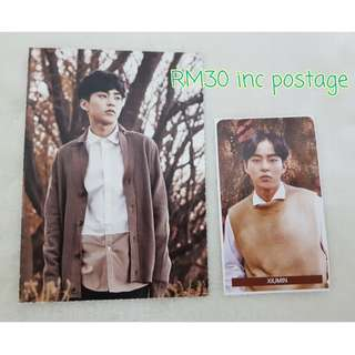 EXO Xiumin New nature republic postcard and sticker