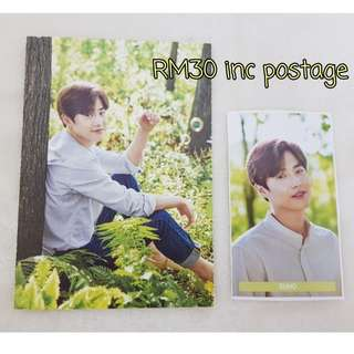 EXO Suho new nature republic postcard and sticker