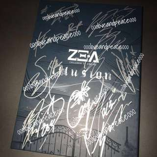 ZE : A 9人 親筆簽名 Not For Sale cd