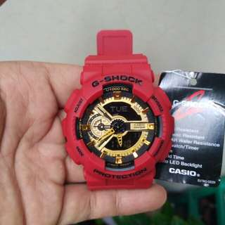 Casio G-shock ga-110 red gold, double time