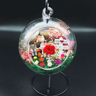 (SOLD) Real Preserved Flowers terrarium